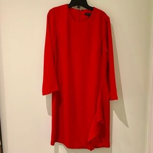 Banana Republic Red Midi Dress